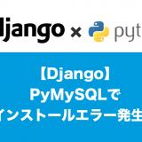 DjangoPymysqlエラー