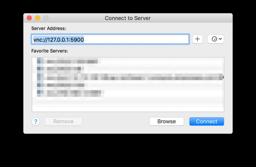 Macサーバーに接続