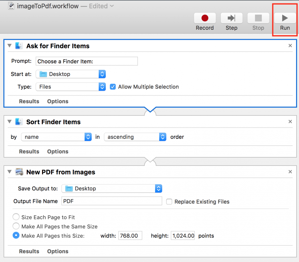 iPhone iPad で写真を名前の順に並び替えてPDF化する方法【Mac】1