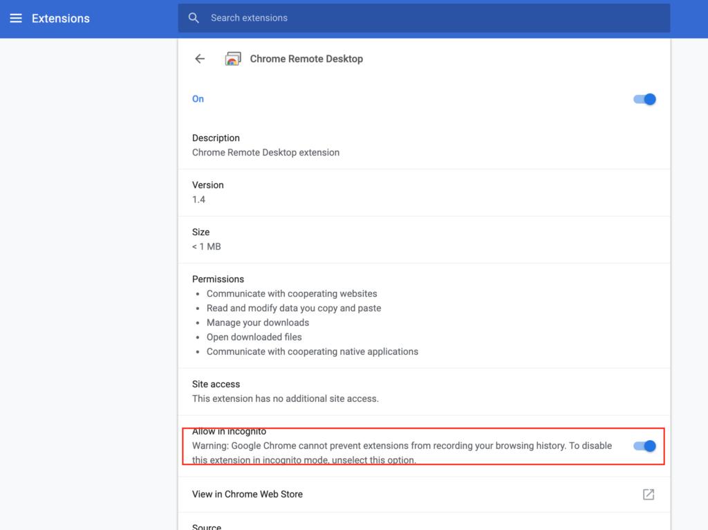 Google Chromeリモートデスクトップ