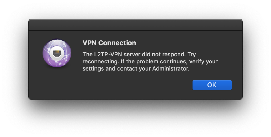 VPN connection error