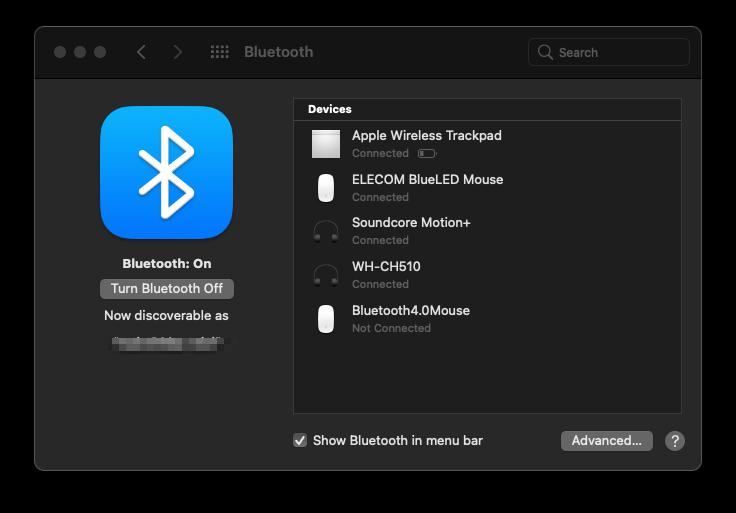 M1 Mac Bluetooth不具合